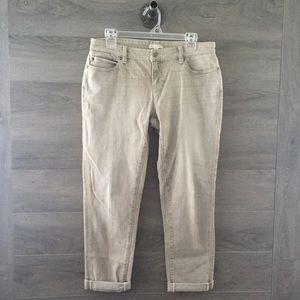 Eileen Fisher Organic Cotton Cuffed Jeans